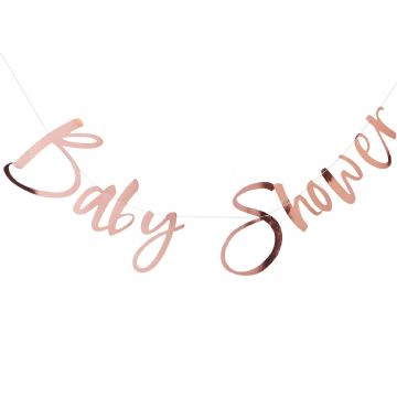 """Baby Shower"" Rose Gold Bunting"